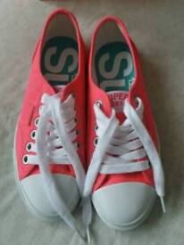 Superdry ladies pink lo pro trainers size 5
