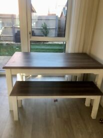 NEXT Dining table with bench