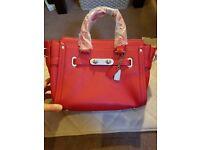New ladies' pure leather handbag