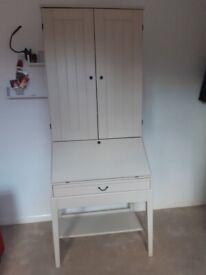 Ikea Alve Bureau Pull Down Desk with Storage Unit Cupboard