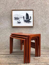 Vintage Mid Century Danish Nest of Tables