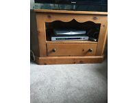 Antique Pine TV corner Unit