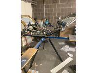 Tee Shirt Printing Carousel with Spot Dryer