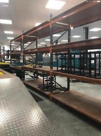 Uprights crossbars shelving