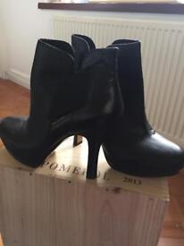 Nine West unworn black leather ankle boots