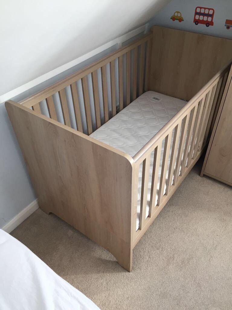 Mamas Papas Rocco 3 Piece Nursery Furniture Set Light Oak
