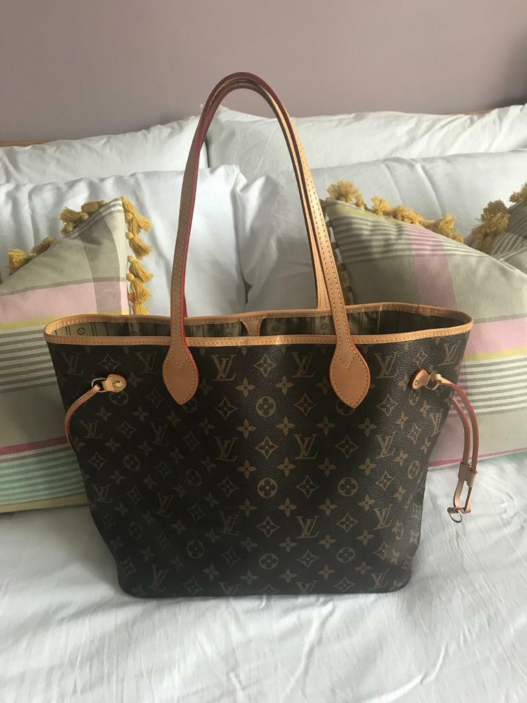 991cadbf7815 LV Louis Vuitton Neverfull MM Monogram Bag