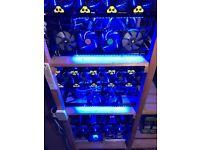 Ethereum 18 GPU Crypto Mining Farm