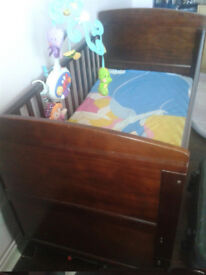 Cot bed with mattress (O baby Grace cot bed)