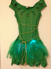 LIGHT UP ELF FANCY DRESS OUTFIT PERFECT FOR CHRISTMAS/NEW YEAR PARTY SIZE M 8/10 will post out