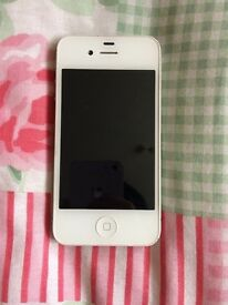 iPhone 4s white 18G full working condition