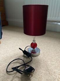 Dark red table lamp