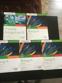 Hodder Education OCR Biology A (New spec 2015) Student Guides Set of 5 books