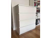 MALM Chest of 4 drawers, white from Ikea