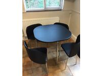 Hygena Amparo Space Saving Dining Table & 4 Chairs