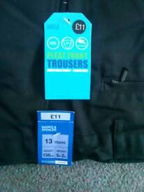 Brand New Marks & Spencer Boys Black Trousers size 13 years.