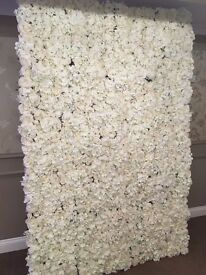 Wedding Flower Wall, Artificial Floral Wedding Backdrop Stage 10ft x 10ft £300.00 Hire