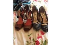 2 pairs of ladies high heels size 6