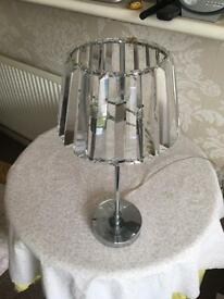 Laura Ashley Crystal Glass lamp shade and light