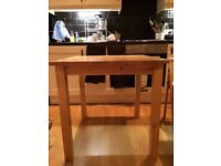 Small Hard Wood Dining Table