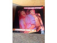 Rolling Stones programme European Tour 1982