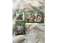 Xbox one console for sale one controller headset, 4 games, unboxed