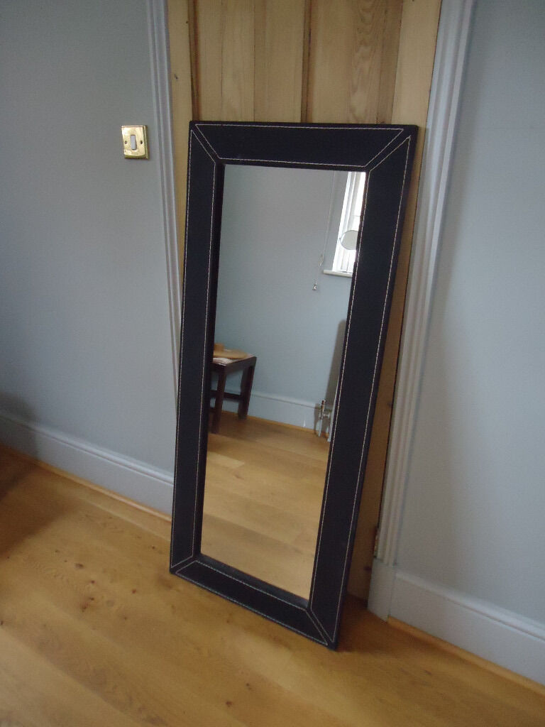 Large ikea black jondal mirror very good condition in for Miroir jondal ikea