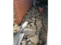 Soil and paving slab for free