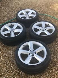 """Audi A4 b8 18"""" alloy wheels and tyres"""