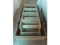 Wooden folding loft ladder and hatch 120 x 60 cm