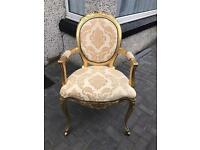 Lovely French Louis gold leaf chair only £135