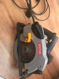 Ryobi Circular Saw EWS1368 in case. Good condition.