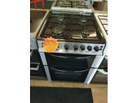 BUSH 60CM GAS DOUBLEOVEN COOKER IN SILVER