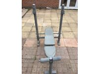 Domyos gym weights bench workout in good condition perfect for bench press.