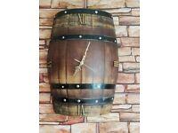 Oak barrel clock
