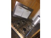 zannussi gas oven hob .extractor and hood