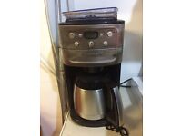 Cuisinart automatic filter coffee maker - grinder included - dgb900bcu