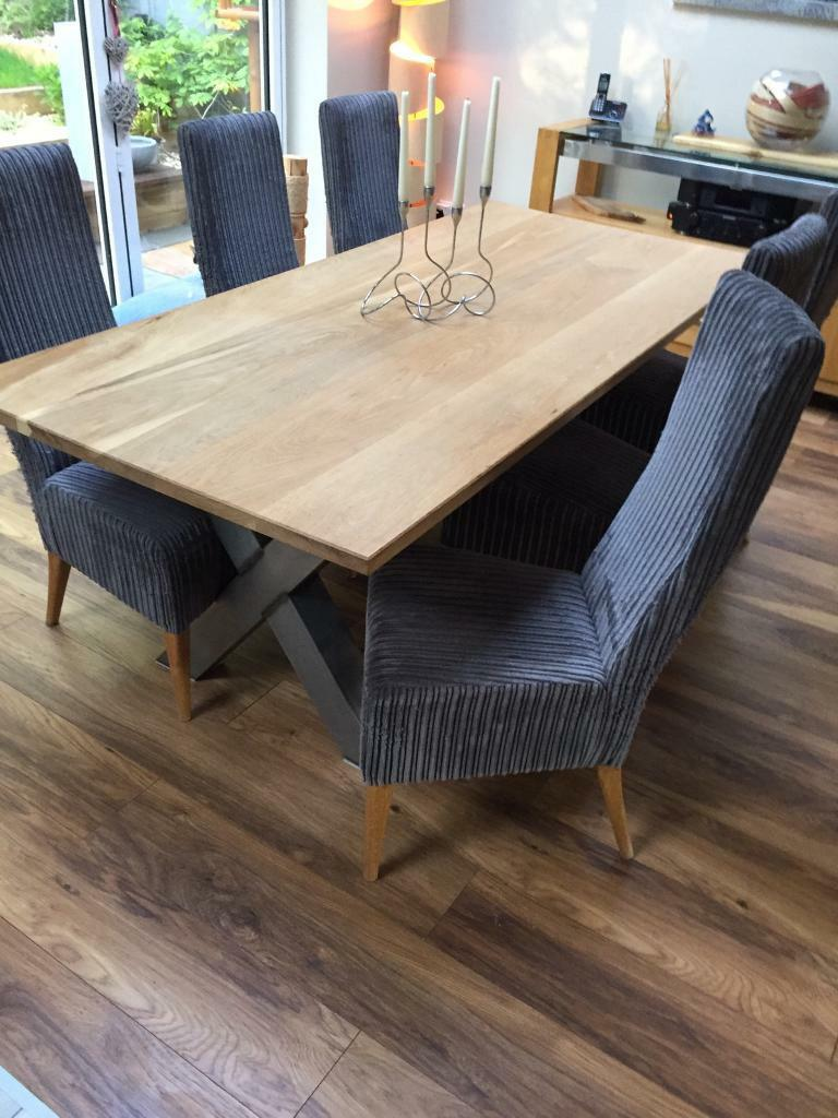 High Back Dining Chairs (x6)