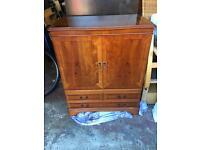 Yew TV cabinet