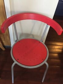 Dining chair red