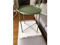IKEA GLADOM DARK GREEN SIDE TRAY TABLE