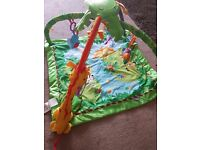 Fisher price play gym and donut