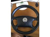 Volkswagen sheeting wheel with airbag