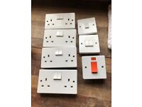 Assorted Crabtree Electrical Sockets and Switches Used