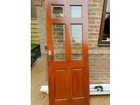 Interior glazed wooden door
