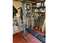 Weight bench with extra attachments