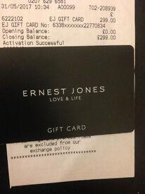 Ernest Jones Gift Card Present Wedding Ring £299