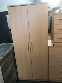 Classic 2 door wardrobe-Beech