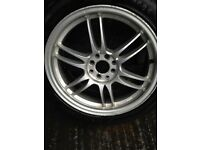MULTIFIT ALLOY WHEELS WITH EXCELLENT 225/45/17 TYRES