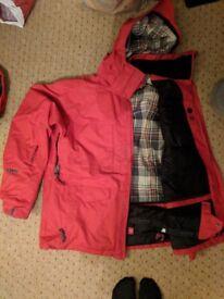 Animal red woodchuck jacket L snowboard ski jacket